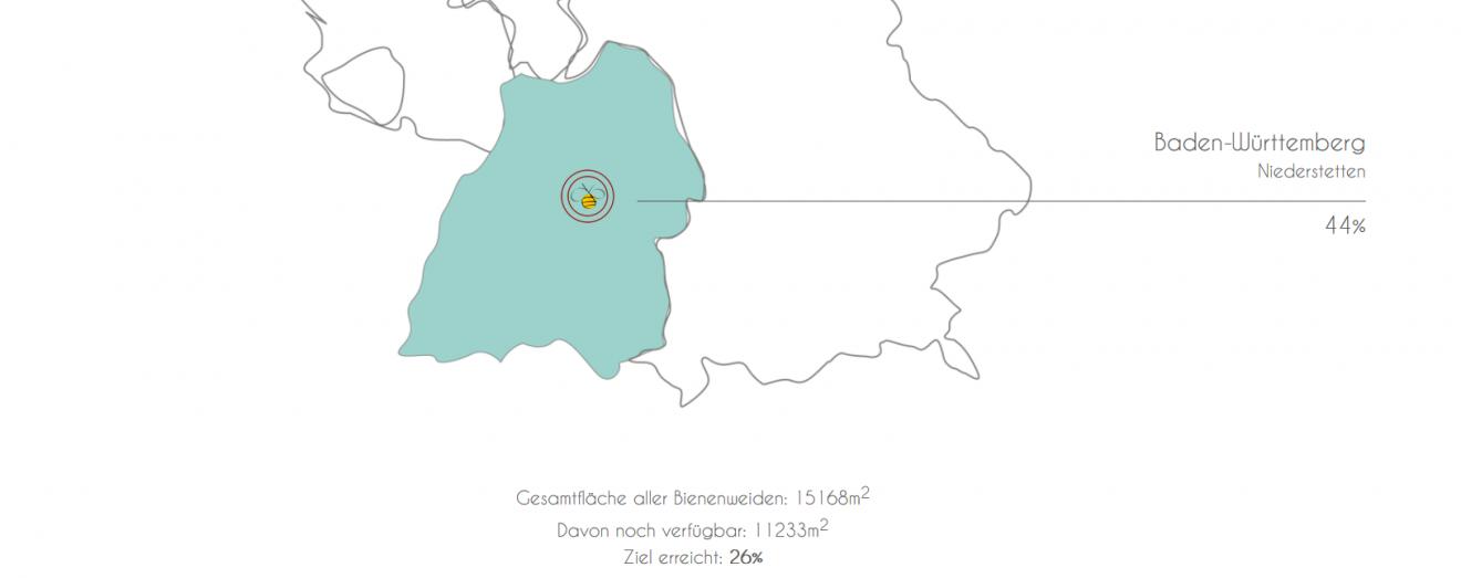 Neue Bienenweiden: 6.313 m² im Jahr 2019